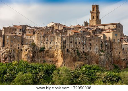 Pitigliano city on the cliff, Tuscany, Italy