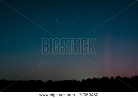 Aurora Over St. Peter-ording, Germany, On September 12, 2014
