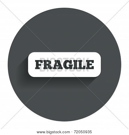Fragile parcel icon. Package delivery symbol.