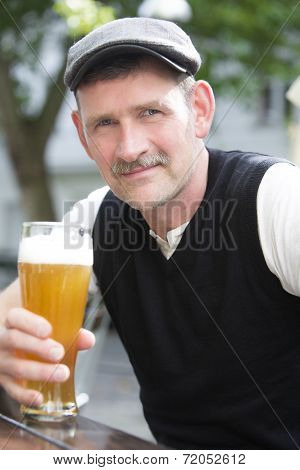 Man With A Glass Of Beer