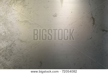 Grunge style metallic background with dints and scratches