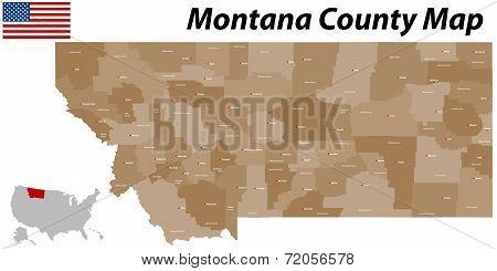 Montana County Map