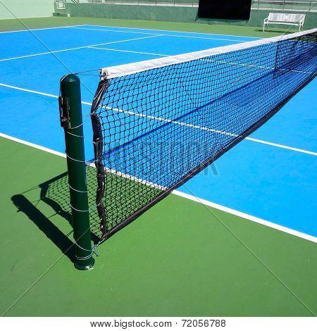 Blue Tennis Court, Tennis Net