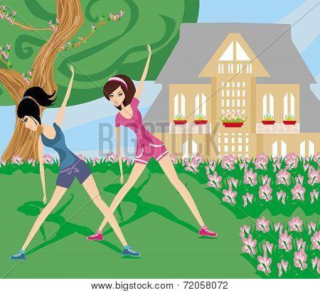 Gymnastics In The Garden