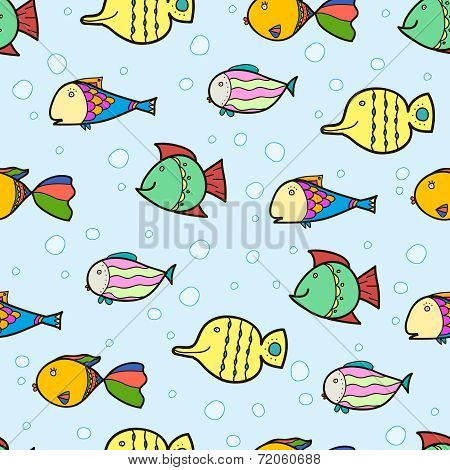 Fishes on the sea