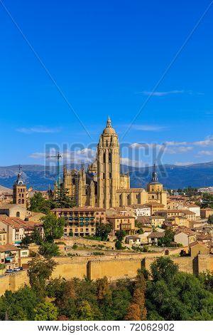 Segovia Roman Catholic Cathedral At Castile And Leon, Spain