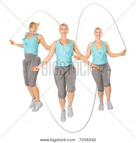 Three Women With A Skipping Rope, Collage