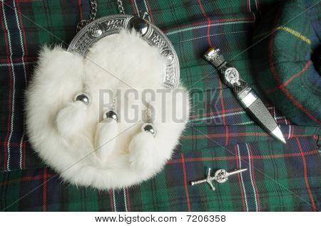 Sporran And Scottish Knife