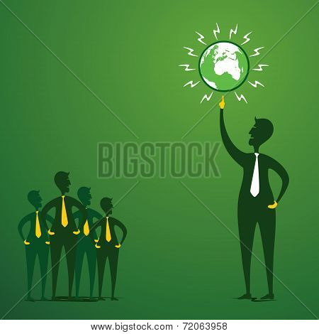 save earth or go green earth concept vector