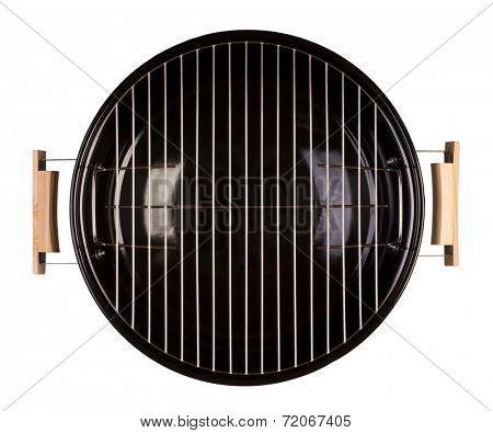 Barbecue grill isolated on white background. Top view