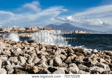 Gulf of Naples and Vesuvius