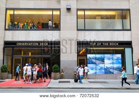 Top Of The Rock Entrance