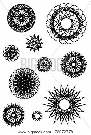 Collection Of Round Ornaments