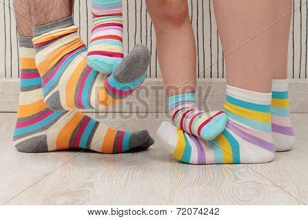 Family In Socks