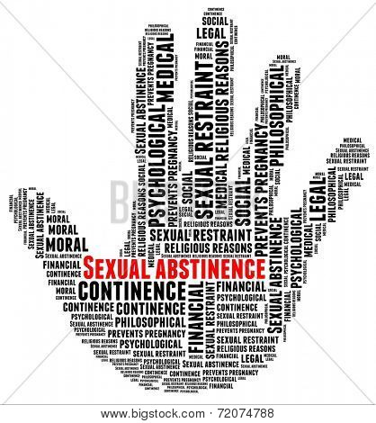 Sexual Abstinence in word collage