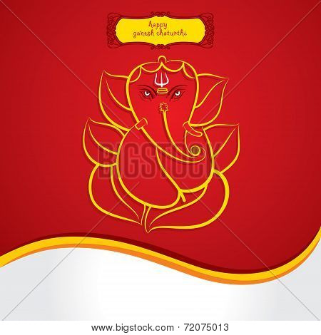 Happy ganesh chaturthi sketch greeting card design background poster happy ganesh chaturthi sketch greeting card design background poster m4hsunfo