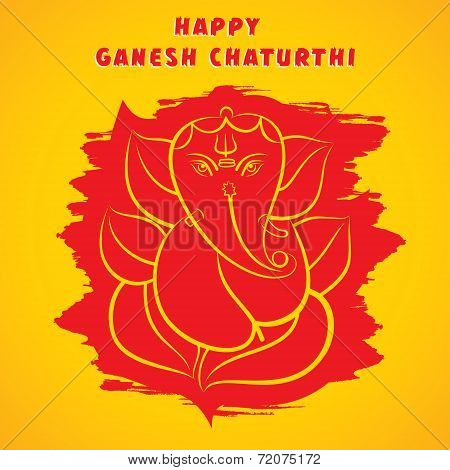 happy ganesh chaturthi sketch greeting card design background vector