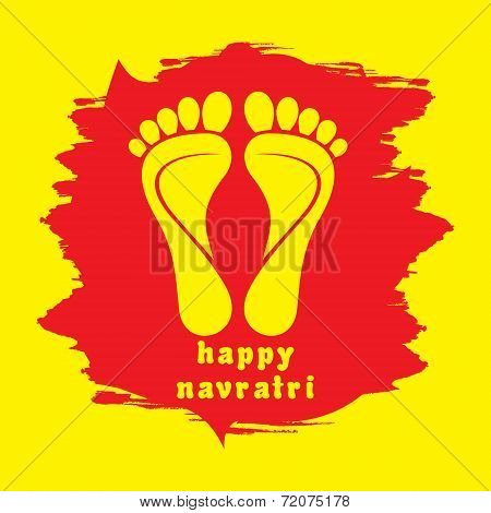 happy diwali or navratri festival greeting card background vector