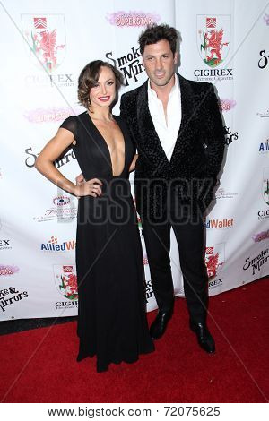 LOS ANGELES - SEP 13:  Karina Smirnoff, Maksim Chmerkovsiy at the 2014 Brent Shapiro Foundation Summer Spectacular at Private Residence on September 13, 2014 in Beverly Hills, CA