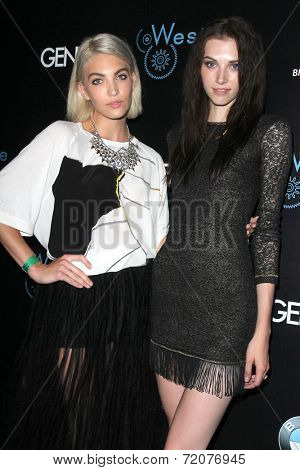 LOS ANGELES - SEP 14:  Bianca Alexa, Jourdan Miller at the Genlux Rodeo Drive Festival of Watches and Jewelry at Rodeo Drive on September 14, 2014 in Beverly Hills, CA