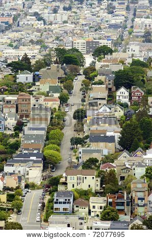 Aerial View Of San Francisco Hills