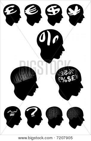Finance  Economy man Profile Head