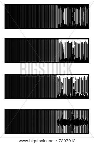 urban barcode banners