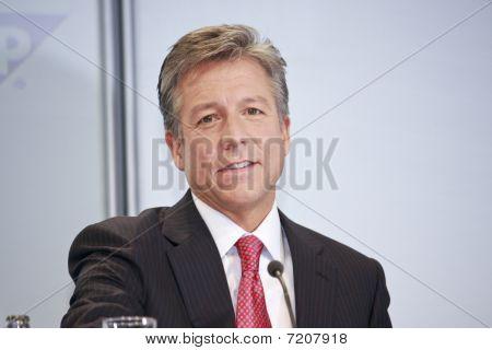 Bill Mcdermott On Public Press Event At Cebit