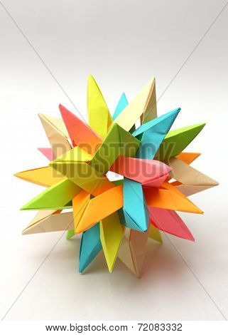 Colorful Modular Origami Star