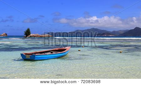 Boat in the indian ocean