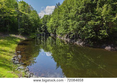 Mill pond at Balmoral Mills, Nova Scotia, Canada.