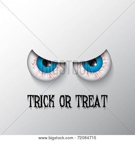 Trick or treat Halloween background with evil eyes