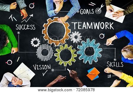 Diverse People in a Meeting and Teamwork Concept