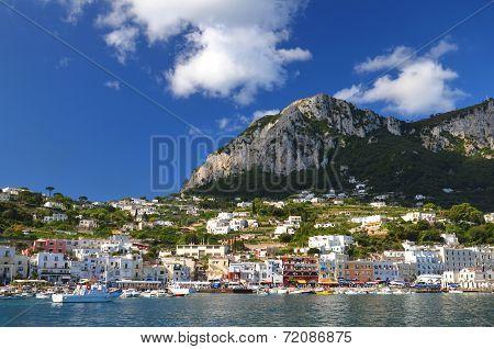 Picturesque Marina Grande on Capri island, Italy