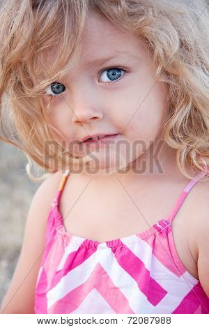 Summer Portrait Of A Little Girl