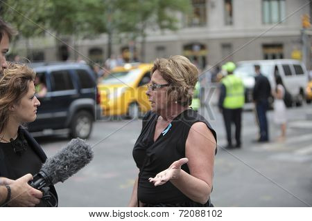 WTC relatives speaks with media