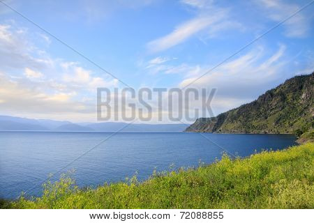 Picturesque View To Lake Baikal And Hills - Beauty Of Nature