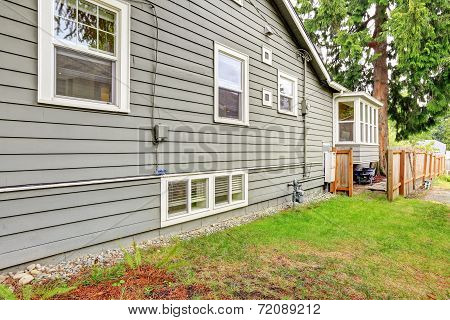 Clapboard Siding House Wall.