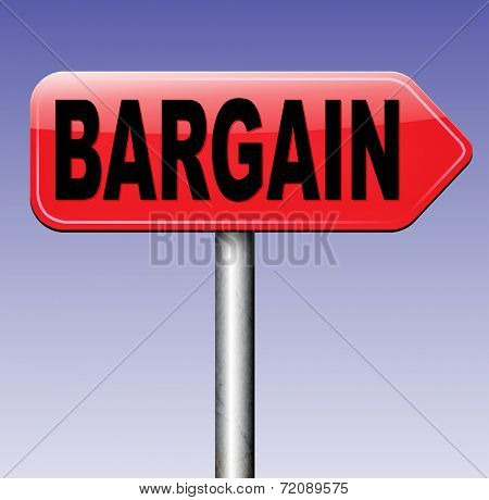 bargain lowest price and great sales deal