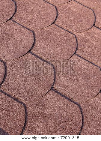 Closeup of bitumen shingle roof pattern