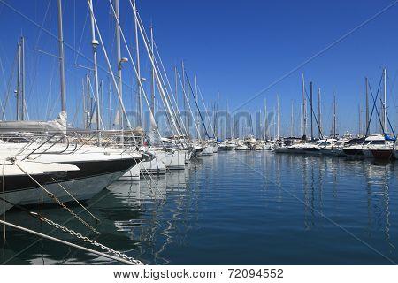 Antibes, France - Aug 27, 2014: Boats, Yacht Of Port Vauban