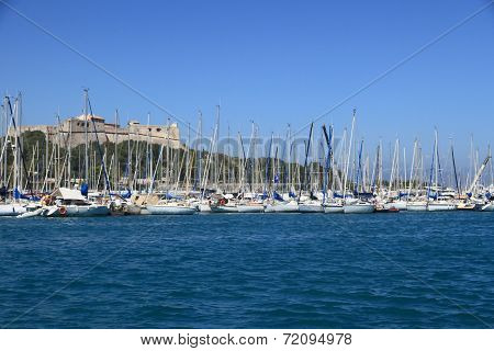 Antibes, France - Aug 27, 2014: Boats, Yacht Of Port Vauban