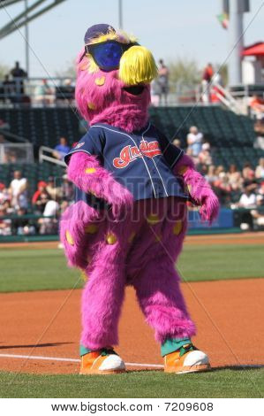 Slider, the Indians' mascot