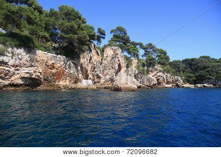 Rocky Coastline Bay On The Mediterranean Sea