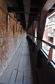 foto of sibiu  - inside the guild wall on cetatii street sibiu romania - JPG