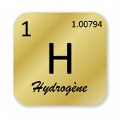 pic of hydrogen  - Black hydrogen element - JPG