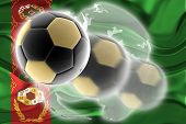 Flag Of Turkmenistan Wavy Soccer Website