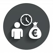 picture of borrower  - Bank loans sign icon - JPG