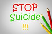 stock photo of suicide  - Stop Suicide Concept text on background idea - JPG