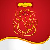 pic of ganesh  - happy ganesh chaturthi sketch greeting card design background vector - JPG